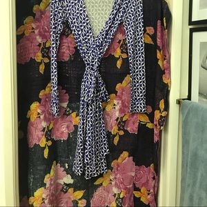 DVF Wrap Dress with long sleeve